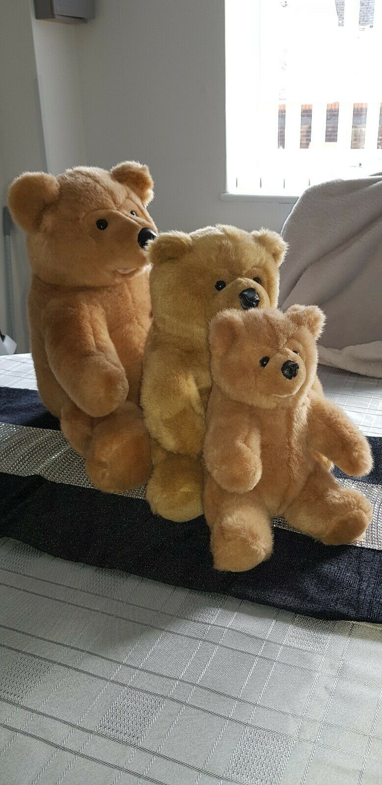 The Woodland Bear Company Co Set of 3 bears collection excellent condition