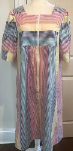 Saybury Seersucker Nightgown Caftan Lounge Dress V