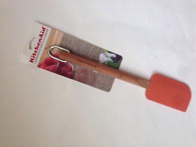 New Kitchenaid Orange Cherrywood Orange Scraper Spatula