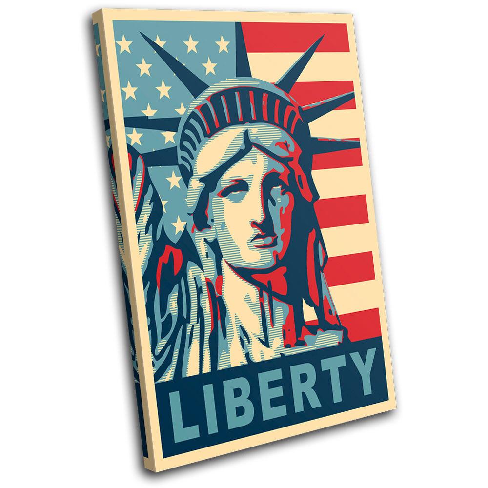 New York City NYC USA Print Statue of Liberty Graffiti Urban Poster Canvas Art Print USA 8724f2