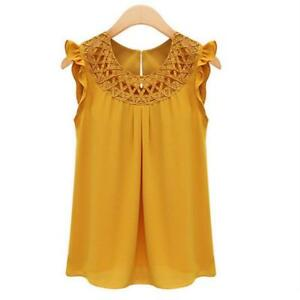 Women-Blouses-Chiffon-Shirts-O-neck-Summer-Sleeveless-Petal-Female-Solid-Top-New