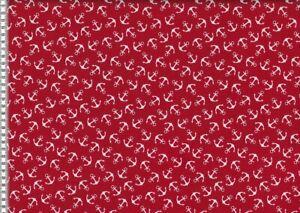 148cm Baumwolldruck mit Sternen rot-weiß