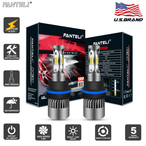 FANTELI 9004 CREE 315000LM LED Headlight Hi-Lo Beam Bulb Replace XENON HID 4300K