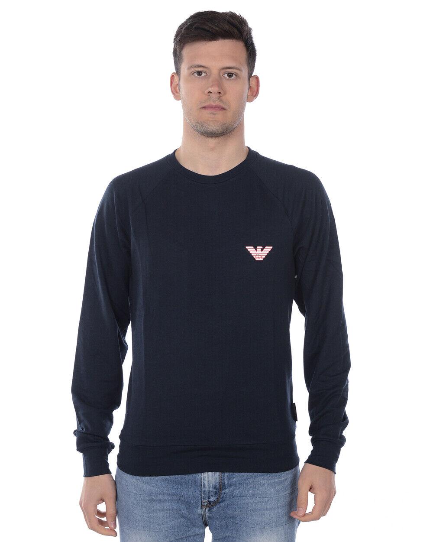 Emporio Armani Sweatshirt Hoodie Man Blue 111602 9P575 135 Sz. M PUT OFFER