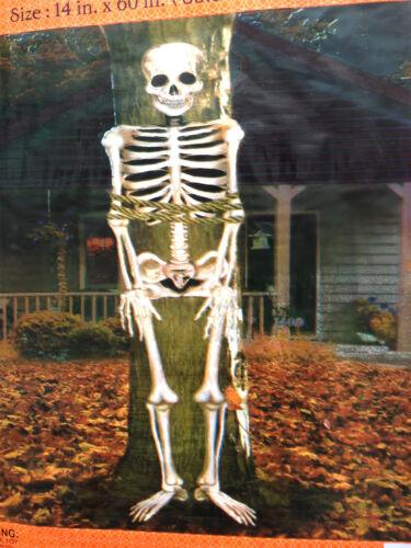 Graveyard Scene Setter-SKELETON POST TREE WRAP-Halloween Party Prop Decoration
