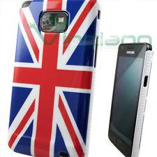 Custodia bandiera Inglese per Samsung Galaxy S2 i9100 SII aderente fin. lucida