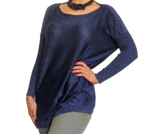 Femmes Paillettes Top Pull Taille 8 10 12 14 16