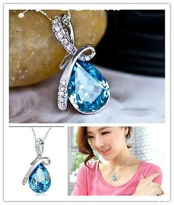 YO US Hot New Girl's Women's Rhinestone Chain Crystal Necklace Pendant 4 Colour