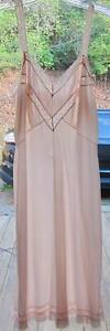 Vintage-Vanity-Fair-PINK-Silky-Sheer-TRICOT-NYLON-LACE-CHIFFON-Full-Slip-34
