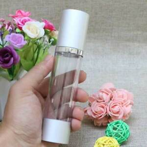 2PCS-Silver-Airless-Pump-Empty-Bottles-Portable-Cosmetic-Lotion-Skincare-Bottle