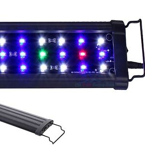 "12""/18""/24""/30""/36""/48""/72"" LED Light HIGH LUMEN Aquarium Full Spectrum FOWLR"