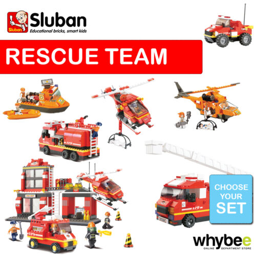 SLUBAN FIRE AND RESCUE LIFEBOAT FULL RANGE CHOOSE YOUR KIT FULLY COMPATIBLE