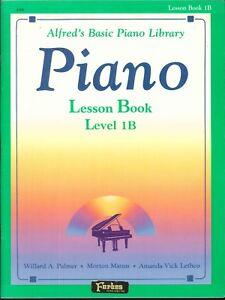 Alfred Piano Lesson Book Level 1b 1981 Tempo Marks Tetrachords Half Steps Scales