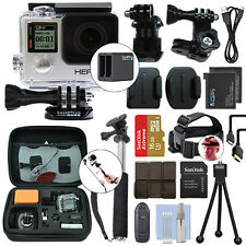 GoPro HERO4 Silver Waterproof Camera Camcorder + 2 Batteries+ 16GB Accessory Kit