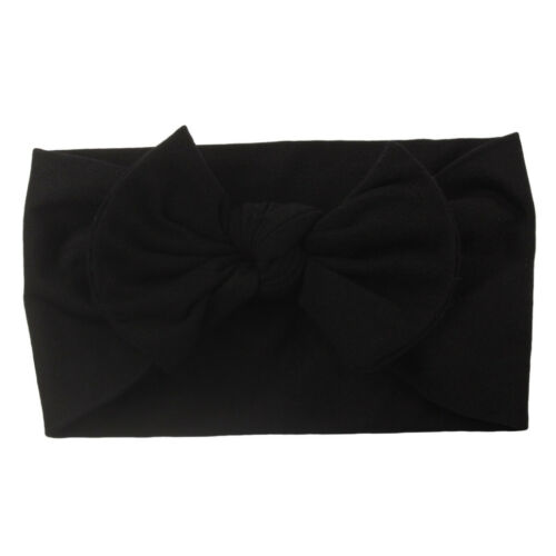 Baby Girls Toddler Turban Solid Headband Hair Band Bow  Accessories Headwear New
