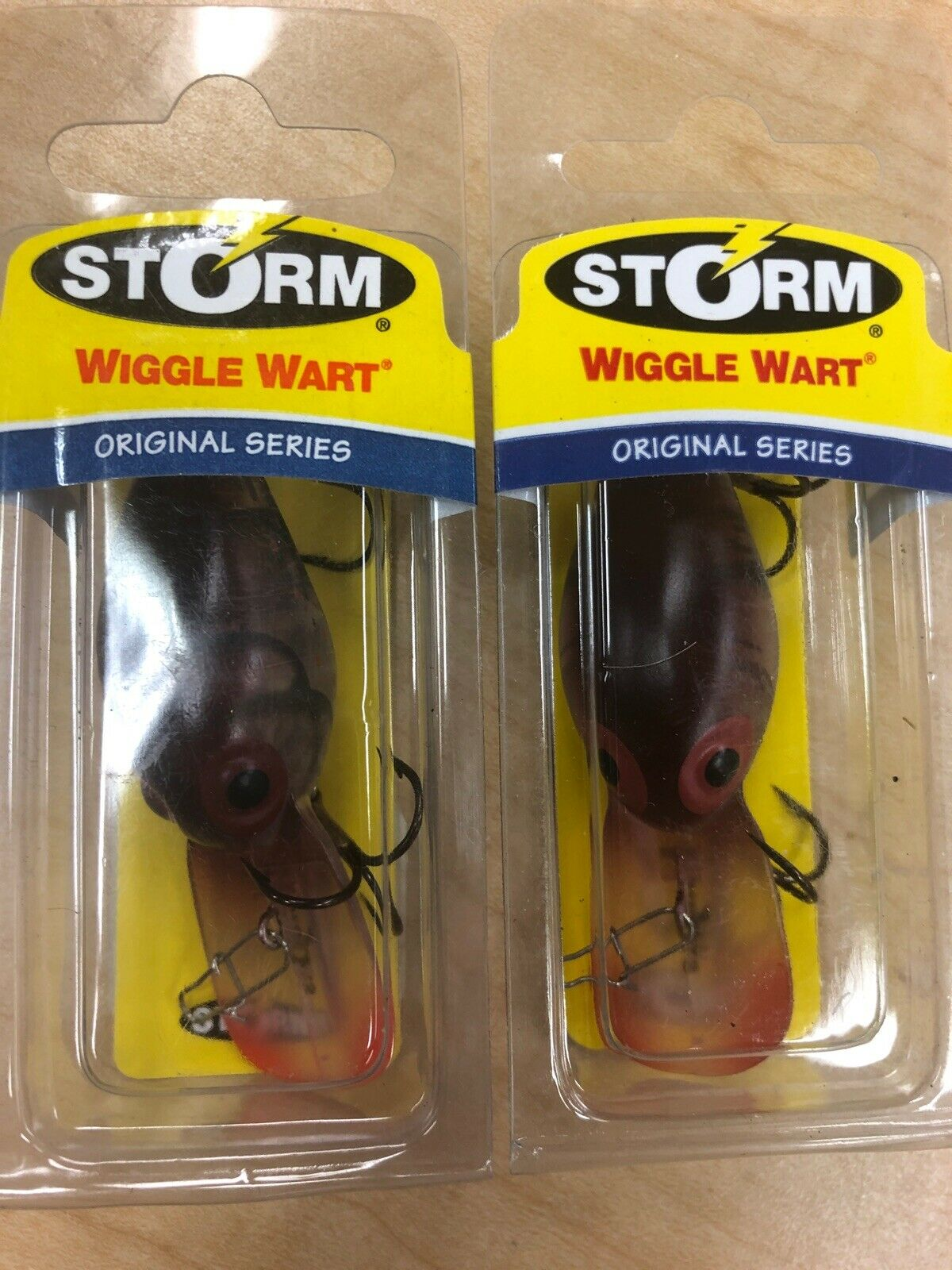 "Fishing Lure V189 Storm Original Wiggle Wart Phantom Copper Craw 2/"" x 3//8 oz"