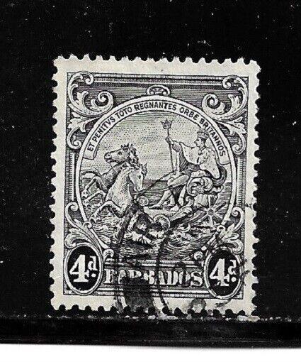 Barbados Stamp- Scott # 198A/A21-4p-Canc/VLH-1938-47-NG