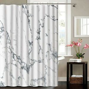 Image Is Loading Madison Marble Effect Polyester Shower Curtain 180 X