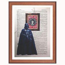 Darth Vader Vs Obey - dictionary art print Star Wars pop art gift shepard fairey