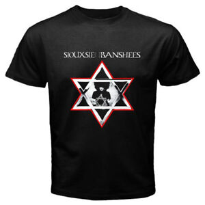 New-Siouxsie-amp-The-Banshees-Rock-Band-Legend-Logo-Men-039-s-Black-T-Shirt-Size-S-3XL