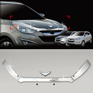 Chrome Front Hood Garnish For 10 11 Hyundai Tucson ix35