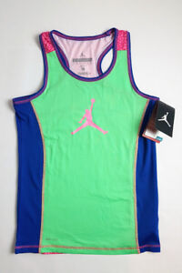 456464dae42115 Image is loading Nike-Air-Jordan-Jumpman-Girls-T-Shirt-Tank-