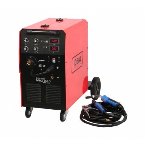 PRO Inverter Halbautomatische Schweißgerät 4x4 280A 400V MIG//MAG//MMA IGBT