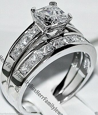BRAND NEW Sterling Silver Round Cut V Setting CZ Engagement Ring Size 5 6 7 8 9