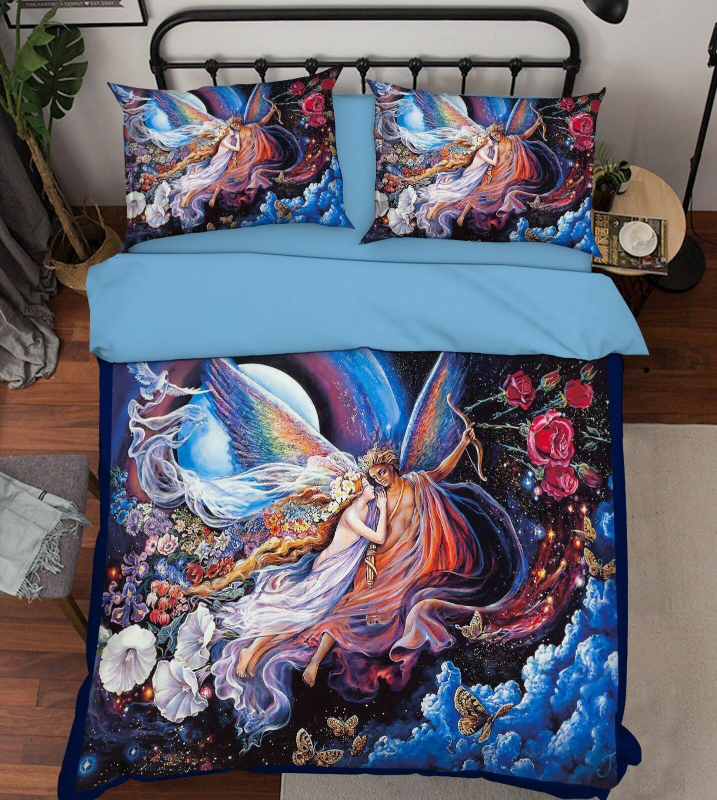3D Angel Mythology 5 Bed Pillowcases Quilt Duvet Cover Set Single Queen AU Carly