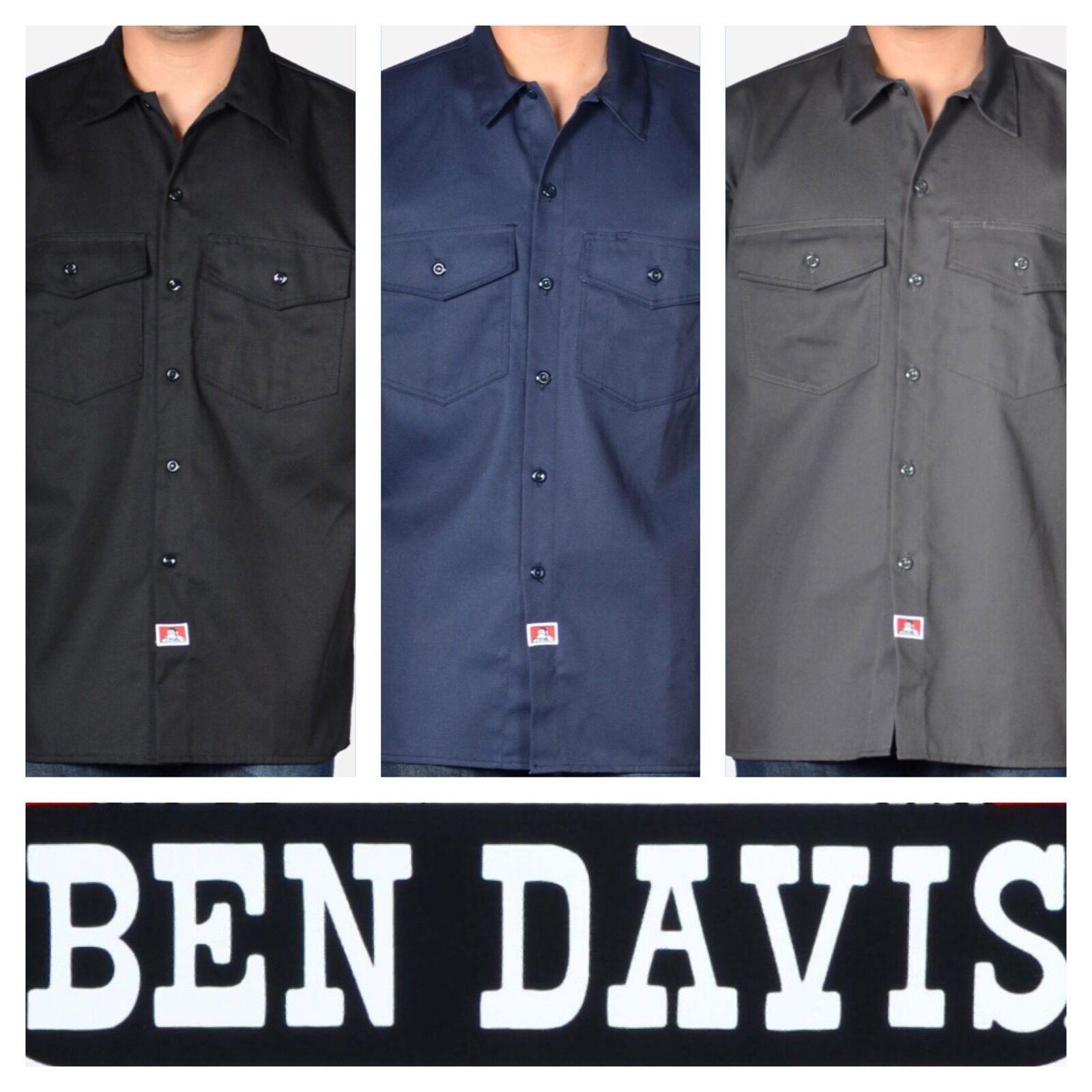 BEN DAVIS SHORT SLEEVE BUTTON UP WORK SHIRTS NEW
