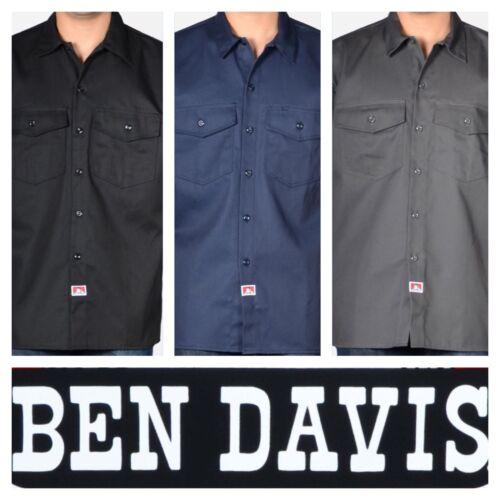 BEN DAVIS SHORT SLEEVE BUTTON UP WORK SHIRTS *NEW*