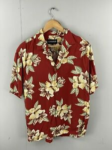 Ocean-Pacific-Menswear-Vintage-Men-s-Short-Sleeve-Hawaiian-Shirt-Size-Medium