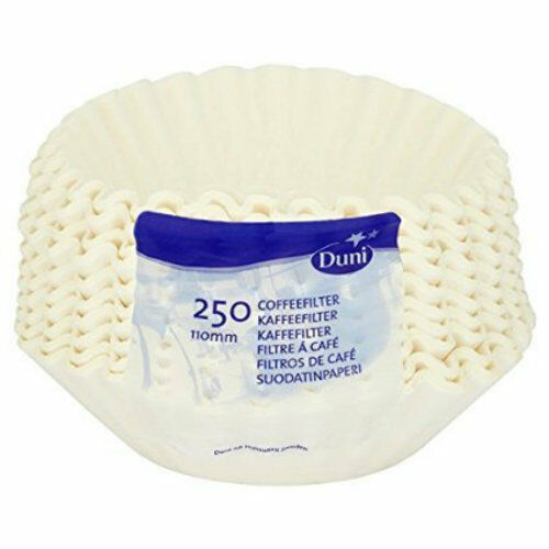 250 Duni Brewmatic Universal Coffee Filter Papers 110mm 3 Pints 180cl TRACKED!