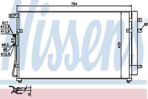 Nissens-Condenser-940269-Fit-with-Kia-Sedona