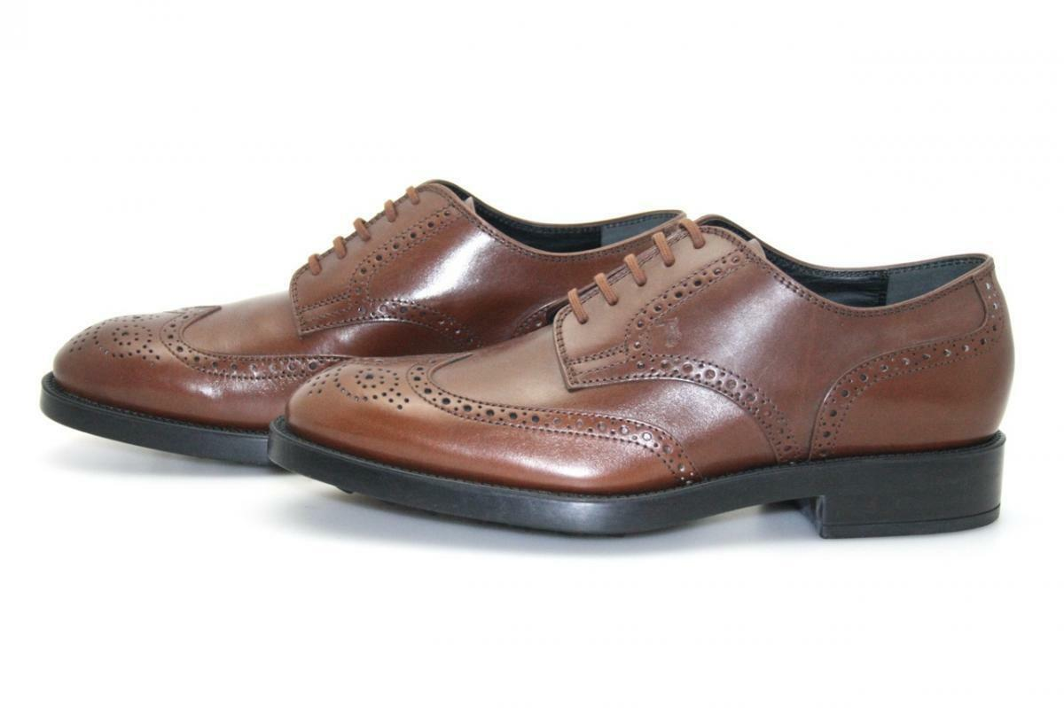 LUSSO Tod 's Business Scarpe ESQUIRE CACAO NUOVE 7 41 41,5