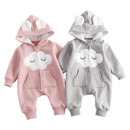 Spring Infant Kids Baby Boy Girl Cotton Romper Jumpsuit Bodysuit Clothes Outfit!