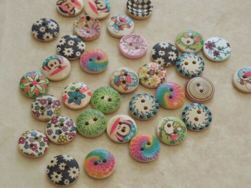 10buttons x Children clothes 2 holes flat round buttons sew on wood buttons