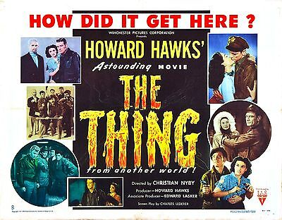 1951 THE THING FROM ANOTHER WORLD VINTAGE MOVIE POSTER PRINT STYLE A 36x24 9MIL