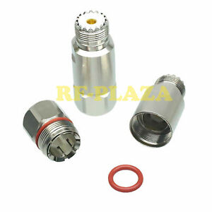 """1pce Connector UHF SO-239 female Jack 1/2"""" Corrugated copper for Andrew Heliax"""