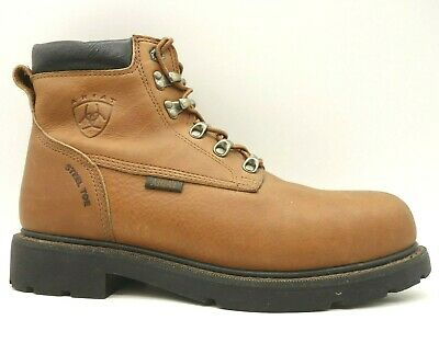 Ariat Brown Leather Steel Toe Lace Up