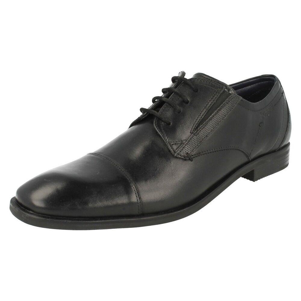 Bugatti pour Homme en Cuir Noir Lacets toe cap travail formel chaussures Savio eva