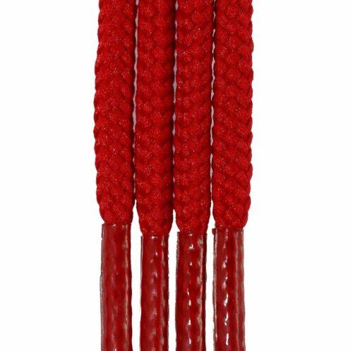 Cordon 3mm x 55cm rouge chaussures pompes plimsoles