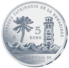 ESPAÑA 5 euro plata 2015 LA LAGUNA  Ciudades Patrimonio de la Humanidad II Serie