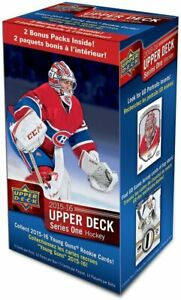 2015-16-Upper-Deck-Series-One-Hockey-Factory-Sealed-Retail-Box-12-Packs