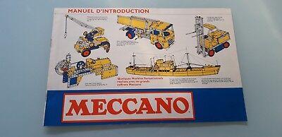 Catalogue Meccano Manuel D'instructions