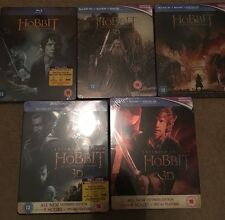 Hobbit Trilogy Blu-ray 5 UK Steelbooks SEALED OOP incl Extended editions