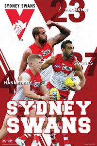 AFL-Sydney-Swans-Players-POSTER-61x91cm-NEW-Adam-Goodes-Hannebery-Franklin