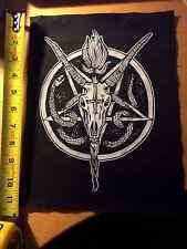 Penatgram, Snake & Goat Skull - occult black metal back patch by Mike Vivisector