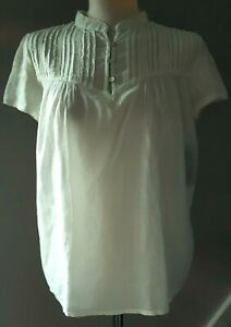 ZARA-Womens-Blouse-Shirt-Top-Cotton-Summer-Casual-Green-L-XL-Vintage-Style-25-9