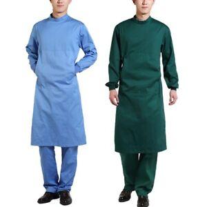 Unisex Scrubs Surgical Gown Hospital Workwear Doctor Uniform